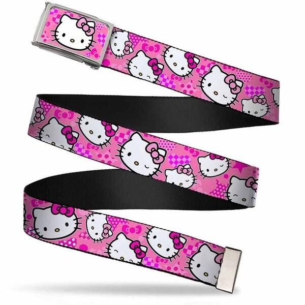 Hello Kitty Face Bows Hearts Stars Fcg Pinks Chrome Hello Kitty Web Belt