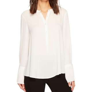 e1e8dbc39b0f03 Quick View. Was  30.98.  9.40 OFF. Sale  21.58. Catherine Malandrino White  Womens Size Large L Collarless Blouse