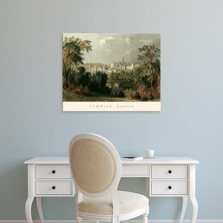 Easy Art Prints T. Allom's 'Ainwick Castle' Premium Canvas Art