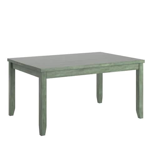 Elena Wood Rectangular Dining Table with Two Drawers by iNSPIRE Q Classic