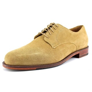 Cole Haan Carter Grand.Plain Men Round Toe Suede Tan Oxford