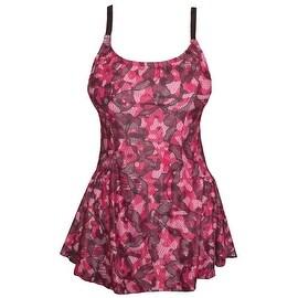 Funfash Plus Size Swimsuit Pink Black Bathing Suit Tankini Swimwear