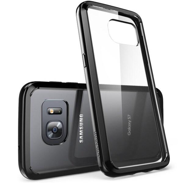 Galaxy S7 Case, Scratch Resistant i-Blason Clear, Halo Series Samsung Galaxy S7 Hybrid Bumper Case Cover-Clear/Black