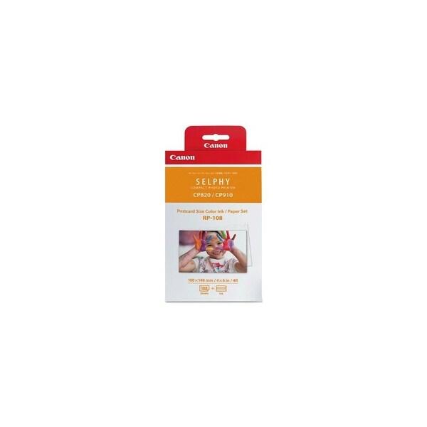 Canon RP-108 Print Ribbon Cassette & Paper Kit RP-108 Ink & Paper Combo Pack - Tri-Color