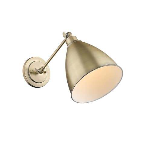 1 Lt Single Adjustable Armed Wall Sconce Brass