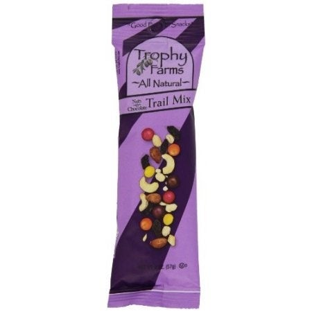 Trophy Farms All Natural Trail Mix - Nuts N Chocolate - Case of 12 - 2 oz.