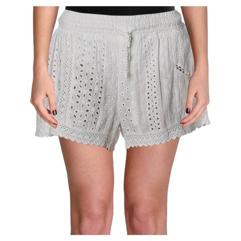 Polo Ralph Lauren Womens Shorts Eyelet Cover Up