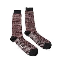 Missoni GM00CMU5245 0004 Maroon/Black Knee Length Socks