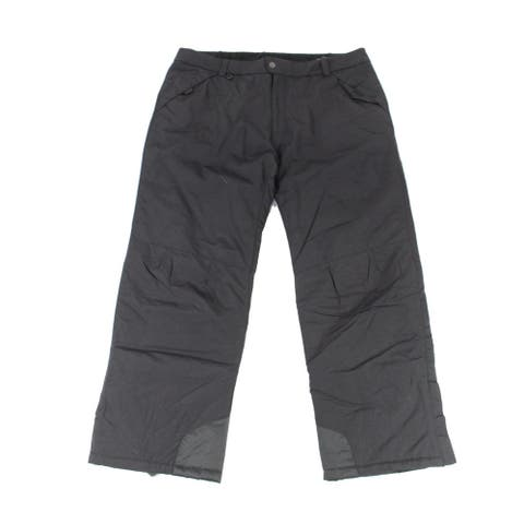 White Sierra Mens Pants Black Size 2XL Toboggan Insulated Stretch