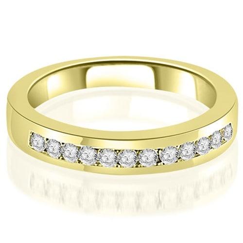 0.30 cttw. 14K Yellow Gold Channel Set Round Cut Diamond Wedding Band