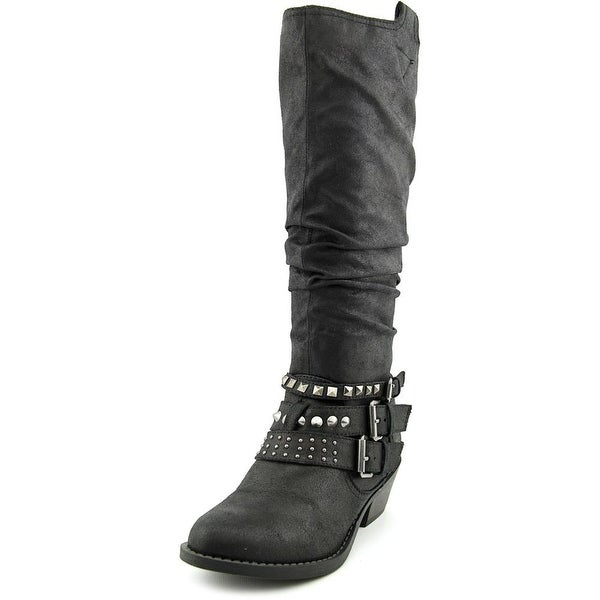 Report Kathye Women Round Toe Canvas Mid Calf Boot