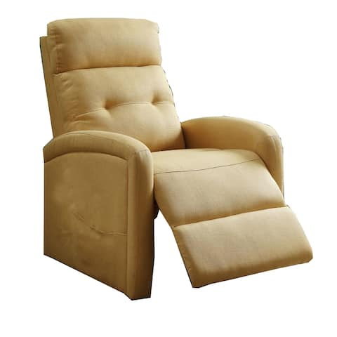 Fabric Upholstered Power Lift Recliner with Side Pocket, Yellow