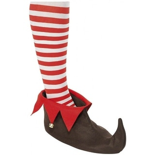 Brown Elf Shoes Adult Costume Accessory