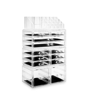 Acrylic Makeup Cosmetic Organizer & Jewelry Storage Set - Large