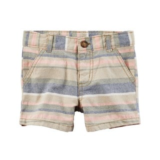 Carter's Baby Boys' Flat Front Shorts- Striped- 127g455- 18 Months