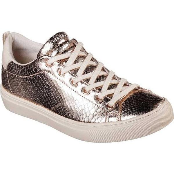 8e5f15fed46a Shop Skechers Women s Side Street Rosie Reptile Sneaker Rose Gold ...