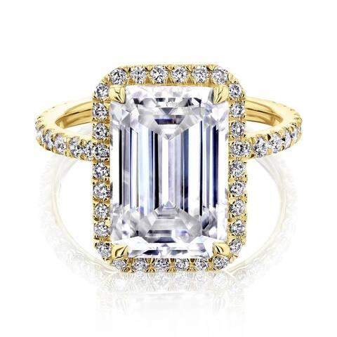Annello by Kobelli 14k Gold Eloise Ring (DEF/VS, DEF/VS)
