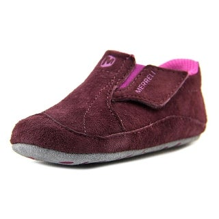 Merrell Jungl Moc Sport Infant Round Toe Suede Purple Sneakers