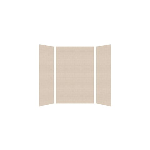 """Transolid SaraMar 36-In X 60-In X 96-In Glue to Wall Shower Walls - 60"""" x 36"""" x 96"""""""