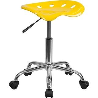 Brittany Orange-Yellow Tractor Seat & Chrome Multipurpose Stool