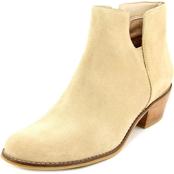 Cole Haan Abbot Bootie Women Round Toe Suede Nude Ankle Boot