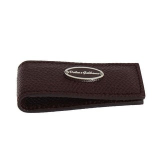 Dolce & Gabbana Dolce & Gabbana Bordeaux Leather Magnet Money Clip - One size