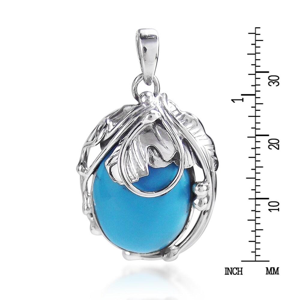 Vintage Pendant,Turquoise Pendant,Sterling Silver Pendant,Handmade Pendant,Turquoise Stone,Vintage Pendant,