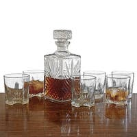 Sparta Whiskey Decanter and Glasses, 7-Piece Set