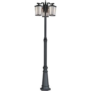 Artcraft Lighting AC8779BK Hampton 3-Bulb Line Voltage Post Light