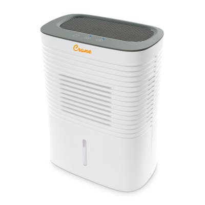 Crane 4 Pint Dehumidifier for Small to Medium Rooms up to 300 sq. ft. - 4 Pints