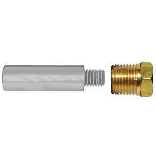 """Tecnoseal E3 Pencil Zinc W/ Brass Cap 2"""" X 3/4"""" Dia - TEC-E3-C"""