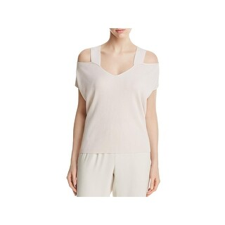 Eileen Fisher Womens Pullover Top Tencel Cold Shoulder