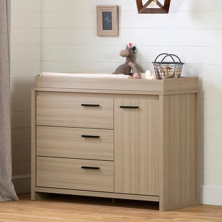 South Shore Lensky Changing Table with Integrated Light