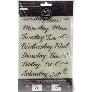 Days Of The Week - Kelly Creates Acrylic Traceable Stamps