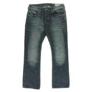 Buffalo Mens Straight Sandblasted Boot Cut Jeans