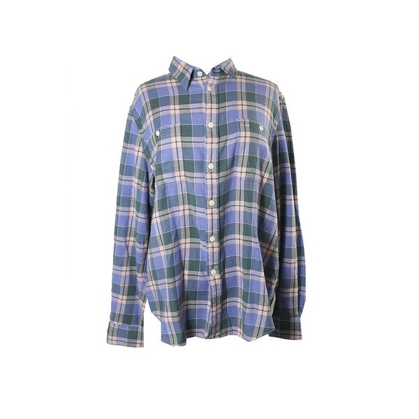 94a65baf Shop Polo Ralph Lauren Purple Multi Relaxed-Fit Plaid Shirt XL ...