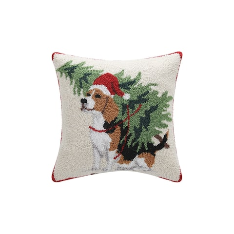 Dog with Tree Hook Pillow