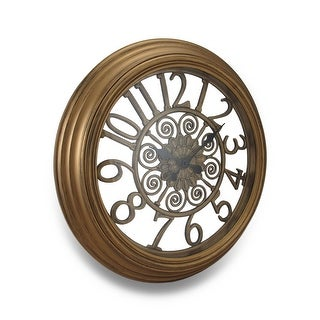 Open Frame Antique Finish Cut Out Design Wall Clock