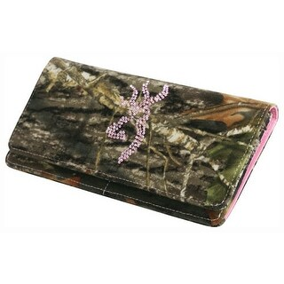 Browning bgt1131 browning women's wallet continental mobu/pink bling