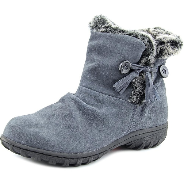 Khombu Isabella Women Round Toe Leather Gray Winter Boot