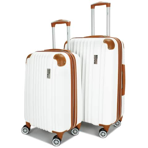 "Miami CarryOn Collins Expandable Retro Spinner Luggage Set (20"" & 24"")"