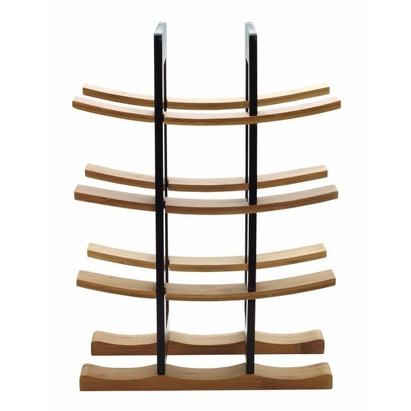 Anchor Hocking 98617 Home Collection Bamboo Wine Rack With Espresso Accents