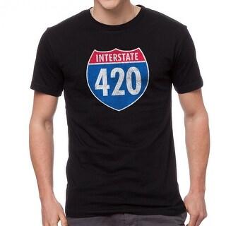Interstate 420 Graphic Men's Black T-shirt