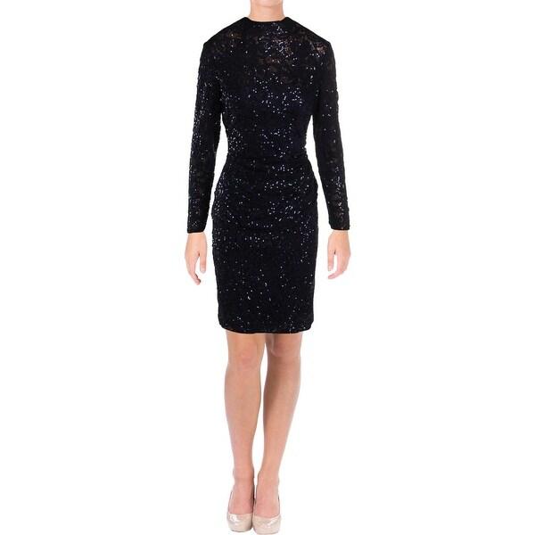 Lauren Ralph Lauren Womens Sarika Cocktail Dress Lace Sequined