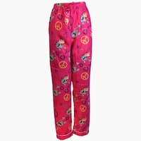 Women's Fleece Multi Pattern Pajamas Pants (Fuchsia)