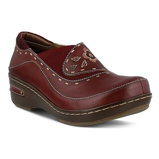 L'Artiste by Spring Step Women's Burbank Slip-on Loafer, - Bordeaux