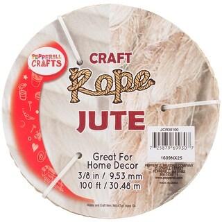"""Jute Craft Rope .375""""X100'-Natural"""