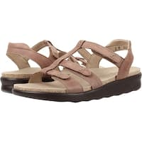 SAS Womens Sorrento Leather Open Toe Casual Slingback Sandals