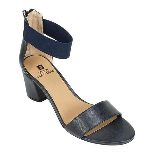 44a4af4a53e White Mountain Women  x27 s Ermaline Ankle Strap Sandal Navy Smooth  Polyurethane