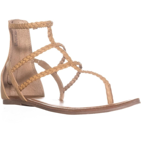 AR35 Amadora Braided Gladiator Sandals, Light Natural - 11 us